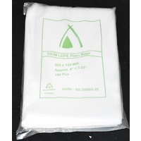 Clear 50um Plastic Bags 205mm x 135mm Carton/1000 Gst Included