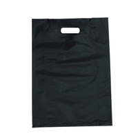 Small Black Boutique Bags Die Cut Handle 360mm x 255mm Pack/100 Gst Included