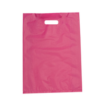 Small Magenta Boutique Bags Die Cut Handle 380mm x 255mm Pack/100