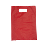 Small Red Boutique Bags Die Cut Handle 380mm x 255mm Carton/1000
