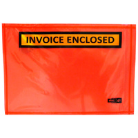 Adhesive Doculopes Invoice Enclosed 115MM X 165MM Pack/100 Price Includes Gst
