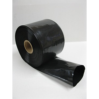 Black Lay Flat Poly Tubing 450mm Wide x 100um Thick x 180m Roll Price Includes Gst