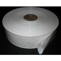 White Lay Flat Poly Tubing 200mm Wide x 60um Thick x 438m Roll Price Includes Gst