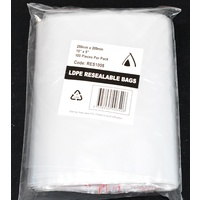 Resealable Bag 255mm x 205mm Pack/100 Gst Included