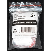 Resealable Bag 50mm x 38mm Carton/1000 Gst Included