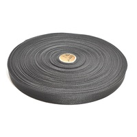 25mm x 50m Black Polypropylene Webbing Gst Included
